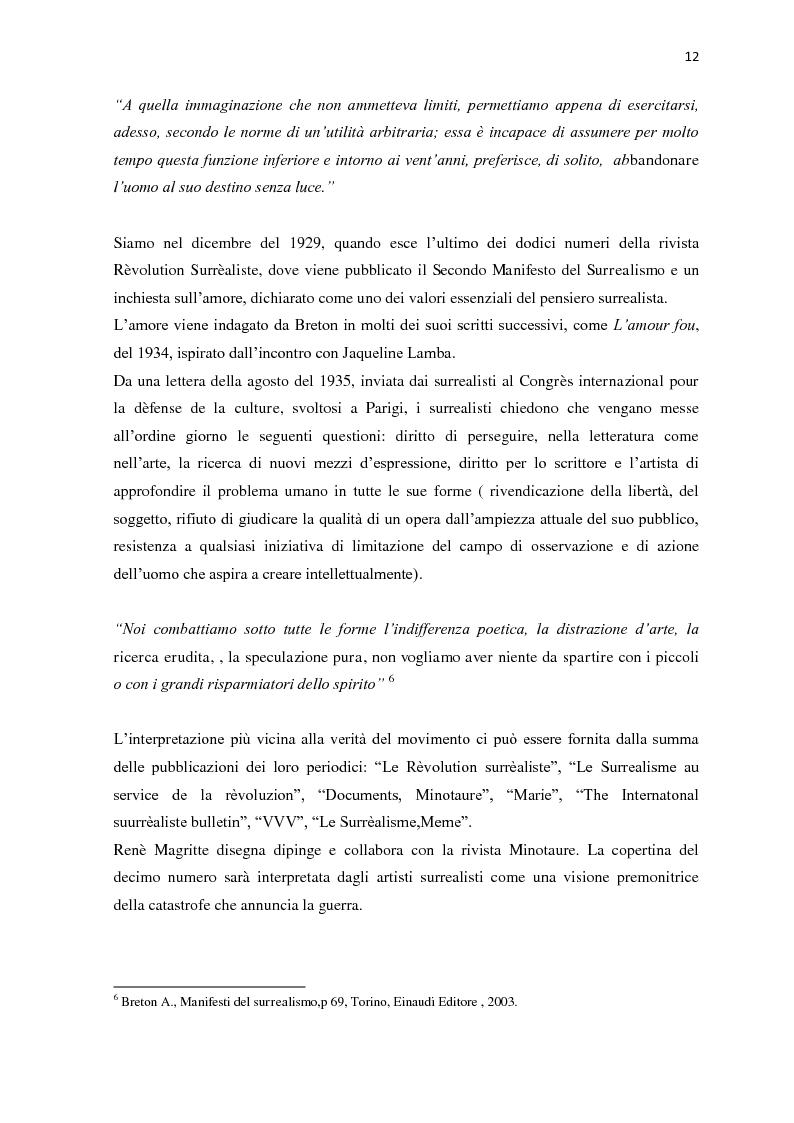 Anteprima della tesi: Il nudo nella produzione fotografica surrealista. Psicanalisi, influenze pittoriche e ricerche sulla sessualità, Pagina 10