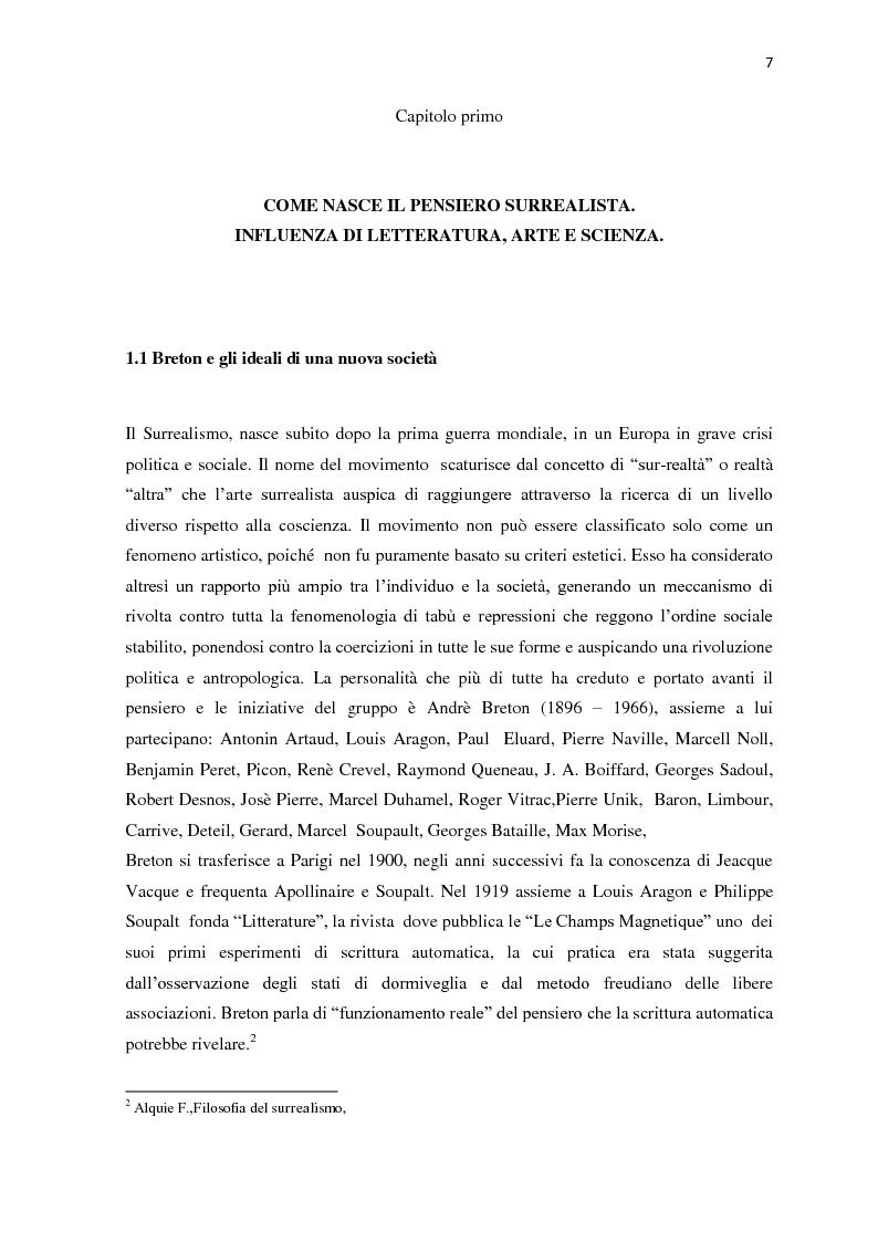 Anteprima della tesi: Il nudo nella produzione fotografica surrealista. Psicanalisi, influenze pittoriche e ricerche sulla sessualità, Pagina 5
