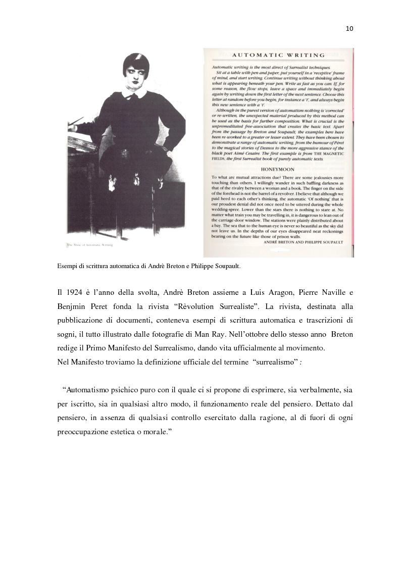 Anteprima della tesi: Il nudo nella produzione fotografica surrealista. Psicanalisi, influenze pittoriche e ricerche sulla sessualità, Pagina 8