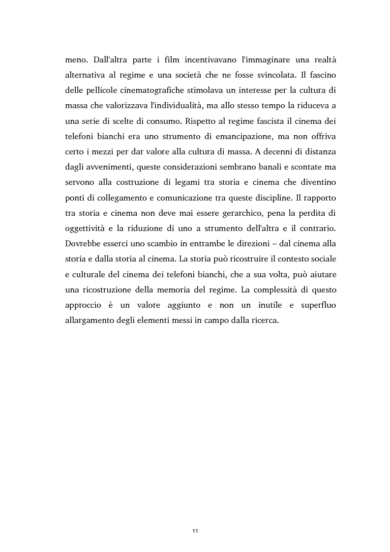 Anteprima della tesi: Tra ideologia e consumo - il fascismo e il cinema dei telefoni bianchi, Pagina 11