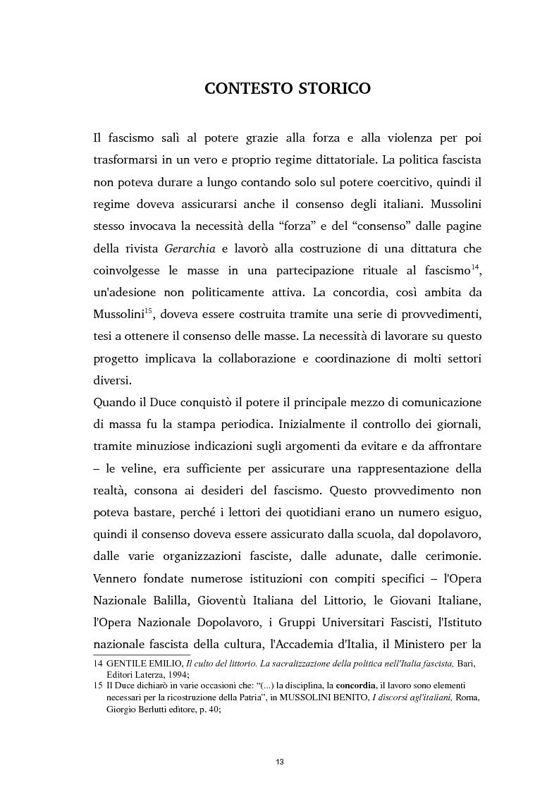 Anteprima della tesi: Tra ideologia e consumo - il fascismo e il cinema dei telefoni bianchi, Pagina 13