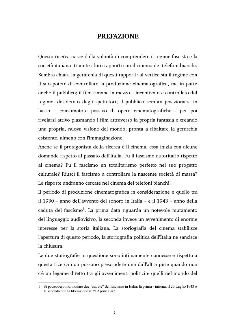 Anteprima della tesi: Tra ideologia e consumo - il fascismo e il cinema dei telefoni bianchi, Pagina 2