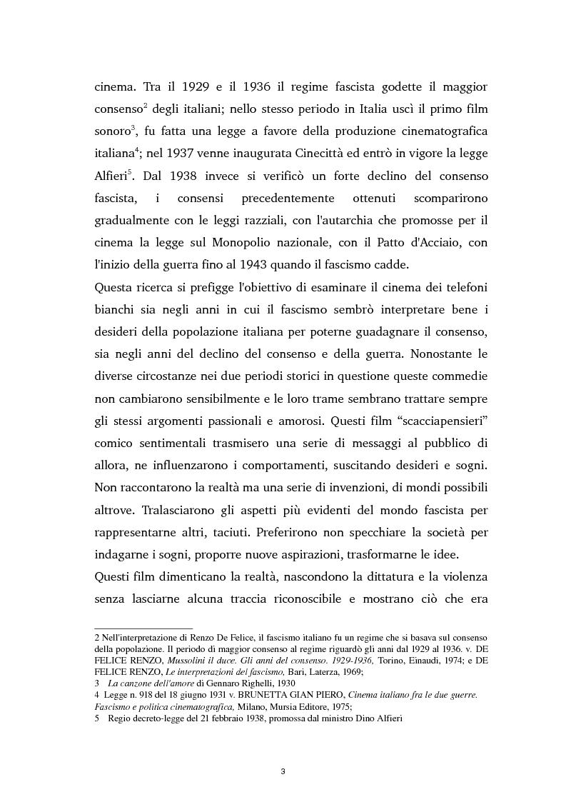 Anteprima della tesi: Tra ideologia e consumo - il fascismo e il cinema dei telefoni bianchi, Pagina 3