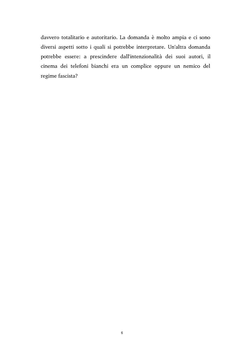 Anteprima della tesi: Tra ideologia e consumo - il fascismo e il cinema dei telefoni bianchi, Pagina 6