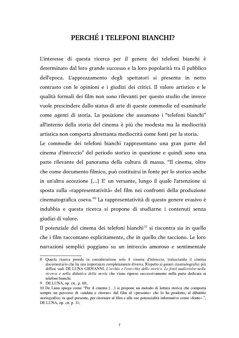 Anteprima della tesi: Tra ideologia e consumo - il fascismo e il cinema dei telefoni bianchi, Pagina 7