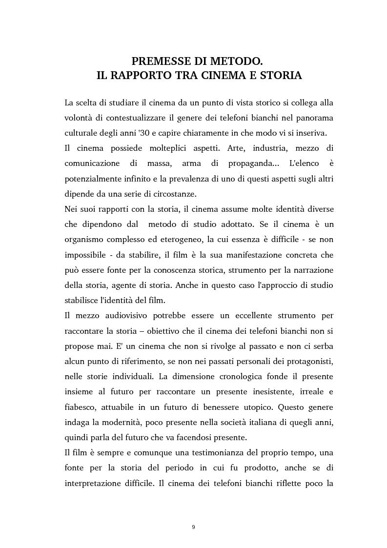 Anteprima della tesi: Tra ideologia e consumo - il fascismo e il cinema dei telefoni bianchi, Pagina 9