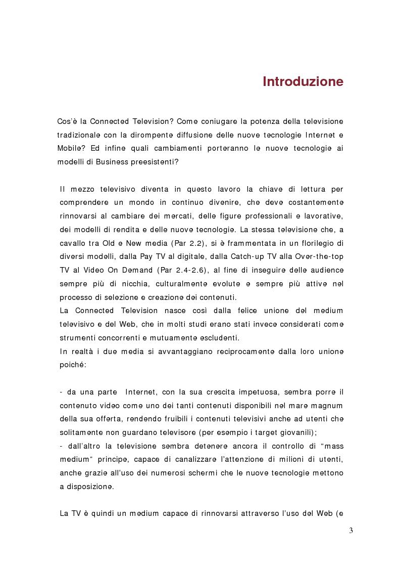 Anteprima della tesi: Surfing on TV. Modelli di Business per la Connected Television, Pagina 2