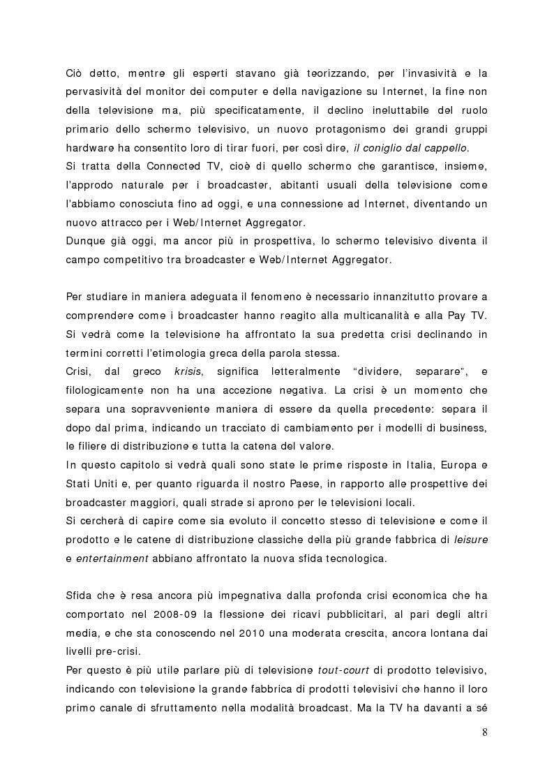 Anteprima della tesi: Surfing on TV. Modelli di Business per la Connected Television, Pagina 7