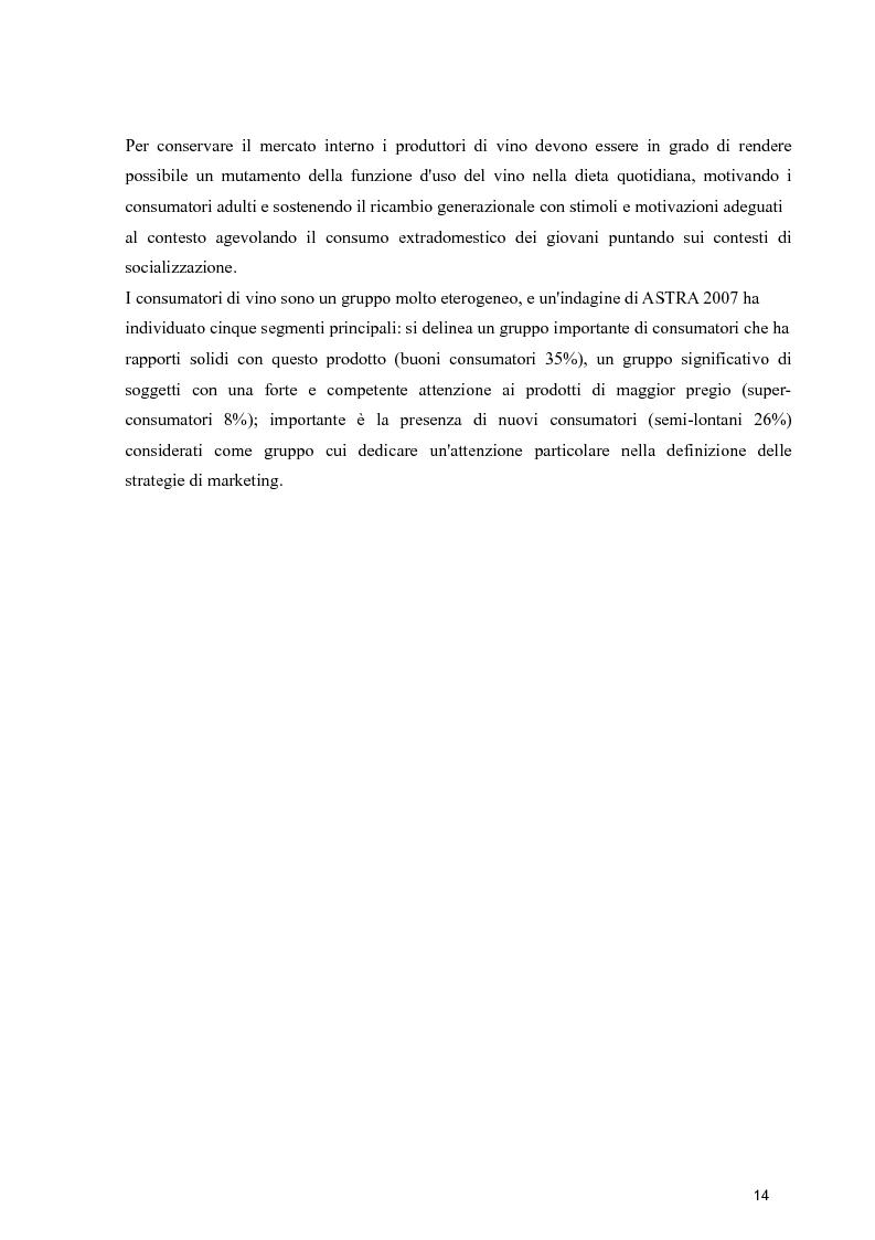 Anteprima della tesi: Strategie di espansione internazionale delle piccole imprese vitivinicole: l'Azienda Agricola Cerbaia, Pagina 10