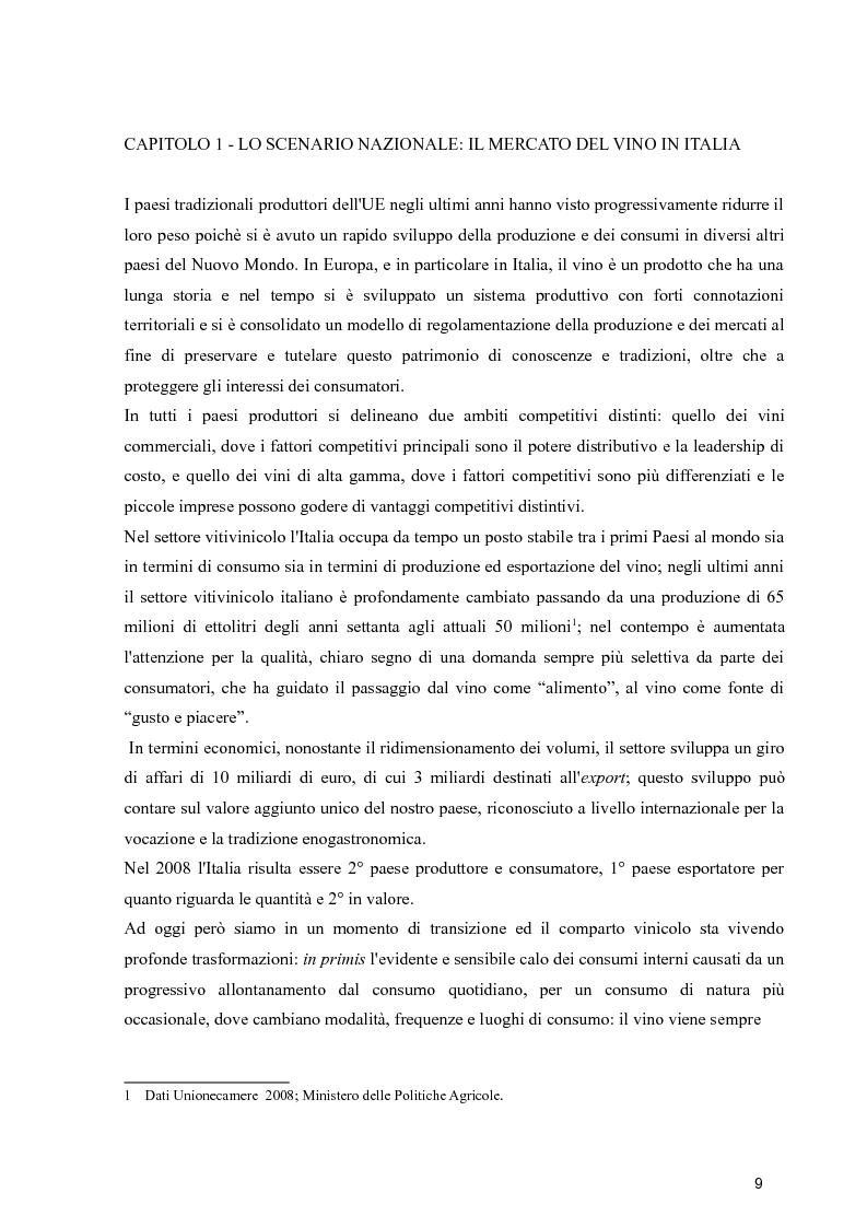 Anteprima della tesi: Strategie di espansione internazionale delle piccole imprese vitivinicole: l'Azienda Agricola Cerbaia, Pagina 5
