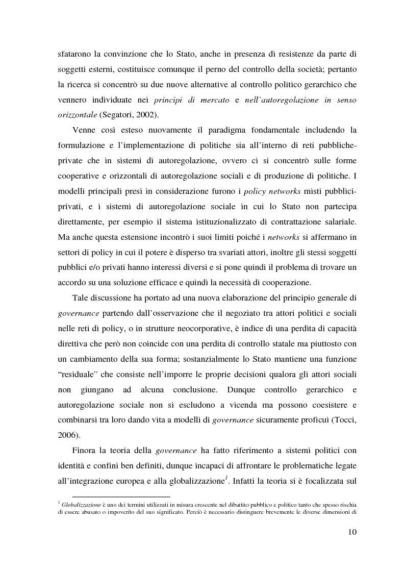 Estratto dalla tesi: Governance e riqualificazione urbana. Il caso dell'area est di Napoli