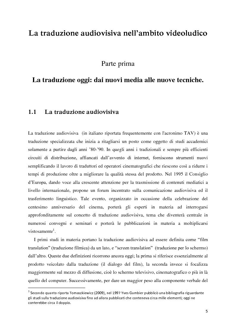 Anteprima della tesi: La traduzione audiovisiva nell'ambito videoludico, Pagina 2
