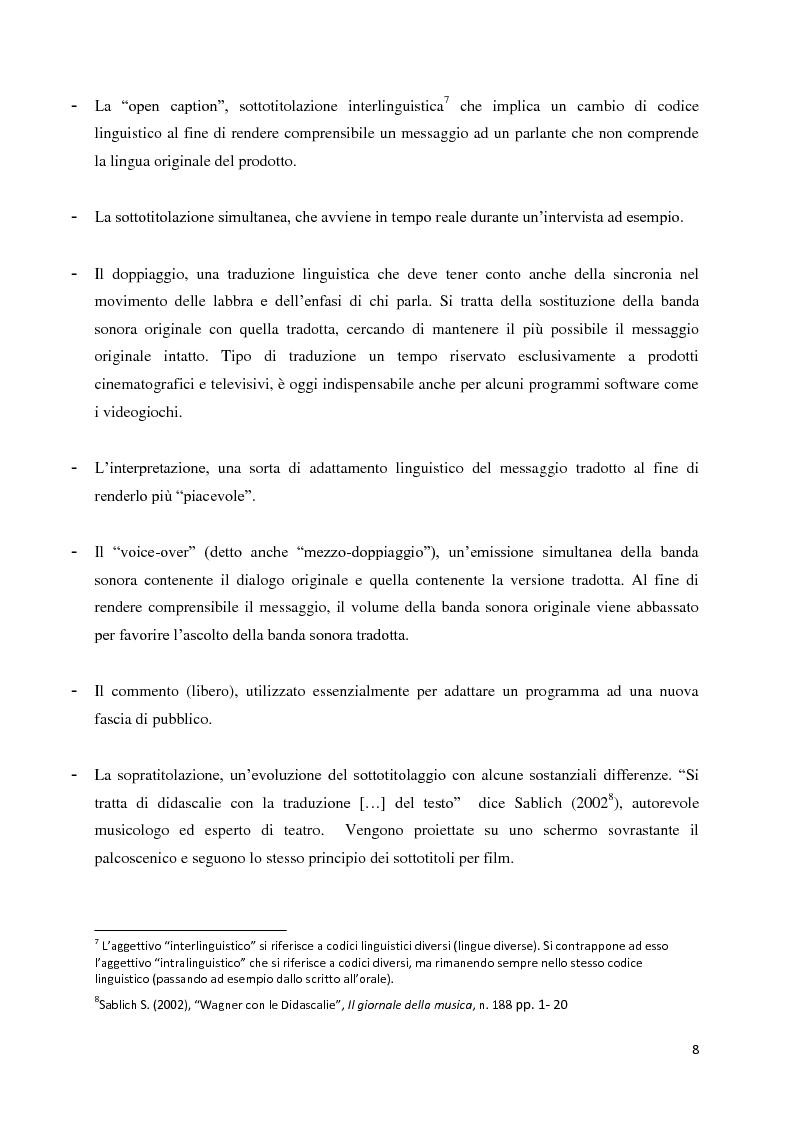 Anteprima della tesi: La traduzione audiovisiva nell'ambito videoludico, Pagina 5
