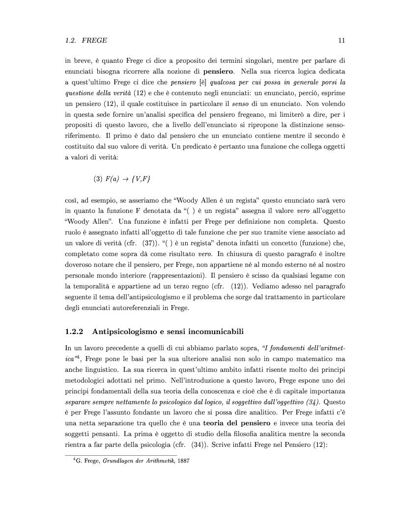 Anteprima della tesi: DEISSI: dalla Filosofia del Linguaggio al Realismo Esperenziale, Pagina 4