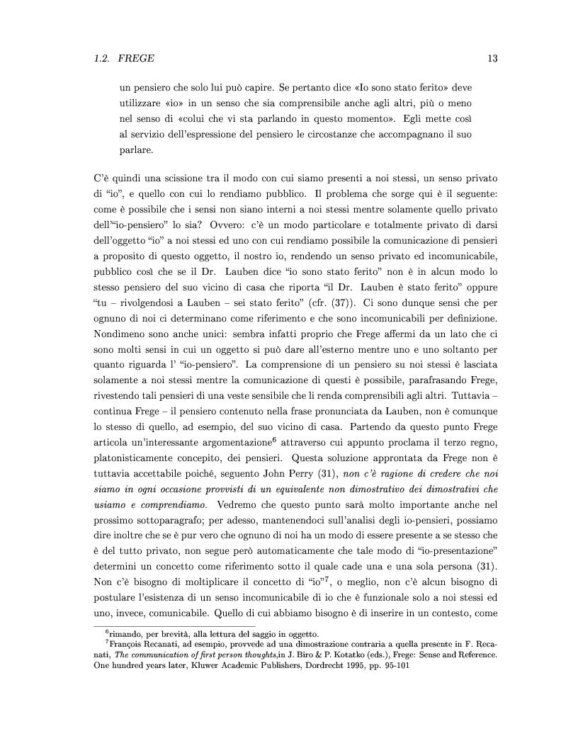 Anteprima della tesi: DEISSI: dalla Filosofia del Linguaggio al Realismo Esperenziale, Pagina 6