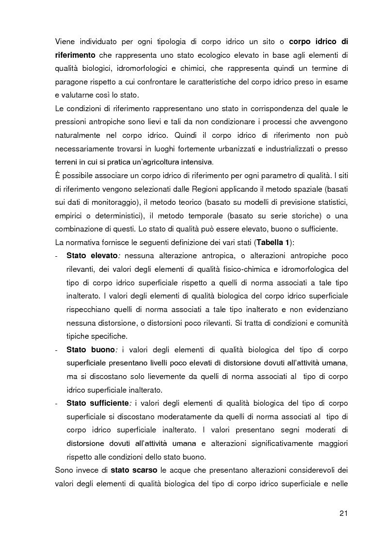 Estratto dalla tesi: Bacini di trattamento e aree umide artificiali per la realizzazione di eco-sistemi filtro