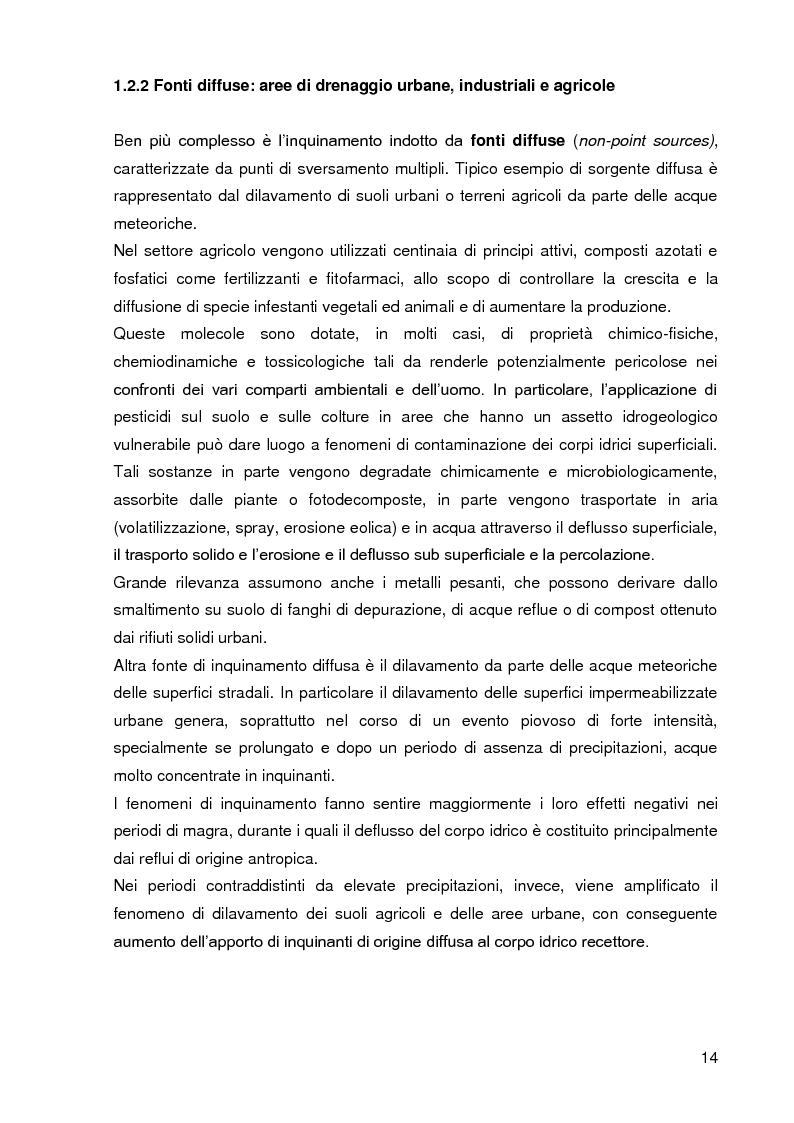 Anteprima della tesi: Bacini di trattamento e aree umide artificiali per la realizzazione di eco-sistemi filtro, Pagina 12