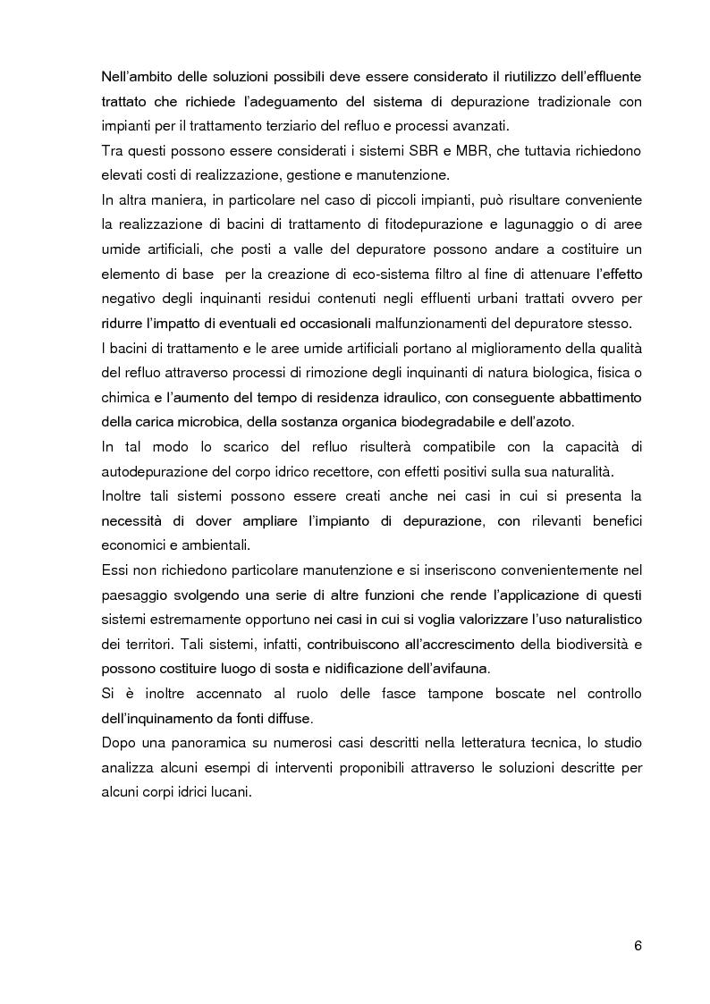 Anteprima della tesi: Bacini di trattamento e aree umide artificiali per la realizzazione di eco-sistemi filtro, Pagina 4
