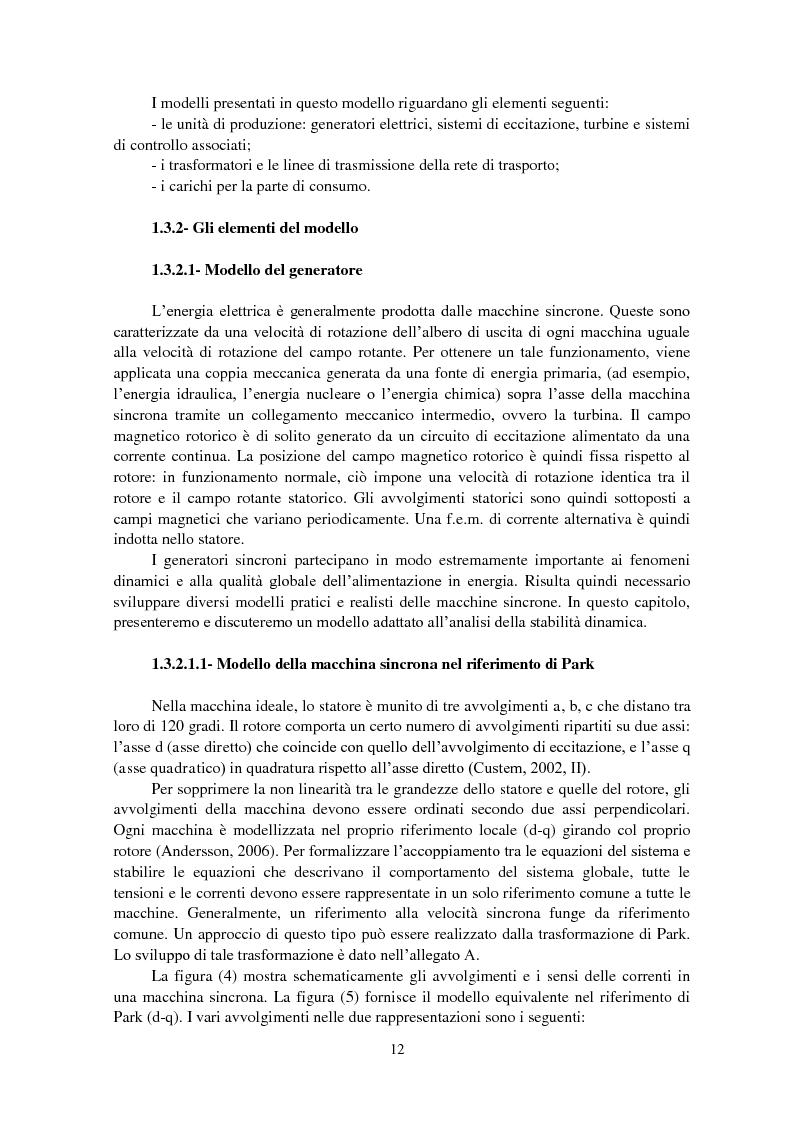 Anteprima della tesi: Studio della stabilità a piccole perturbazioni nelle grandi reti elettriche: ottimizzazione del regolamento con un metodo metaeuristico, Pagina 11