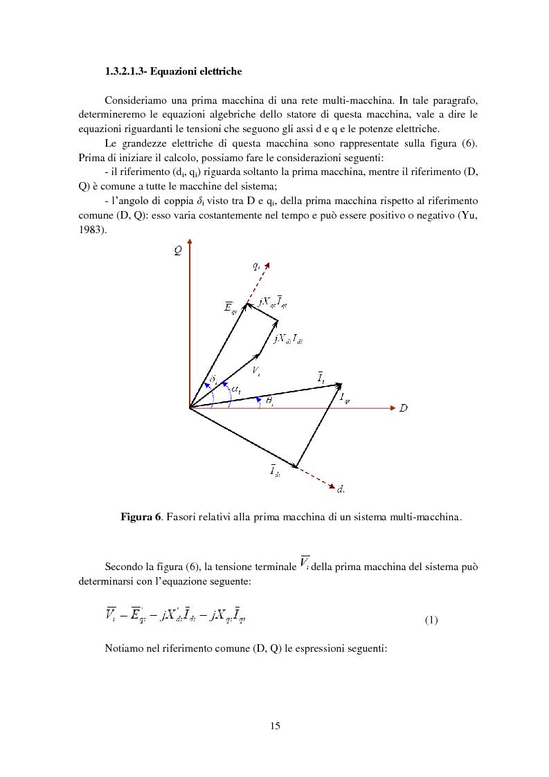 Anteprima della tesi: Studio della stabilità a piccole perturbazioni nelle grandi reti elettriche: ottimizzazione del regolamento con un metodo metaeuristico, Pagina 14