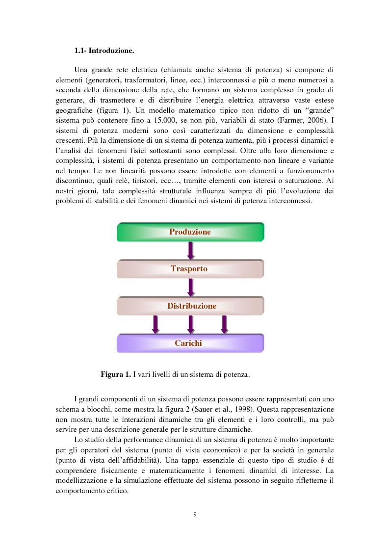 Anteprima della tesi: Studio della stabilità a piccole perturbazioni nelle grandi reti elettriche: ottimizzazione del regolamento con un metodo metaeuristico, Pagina 7