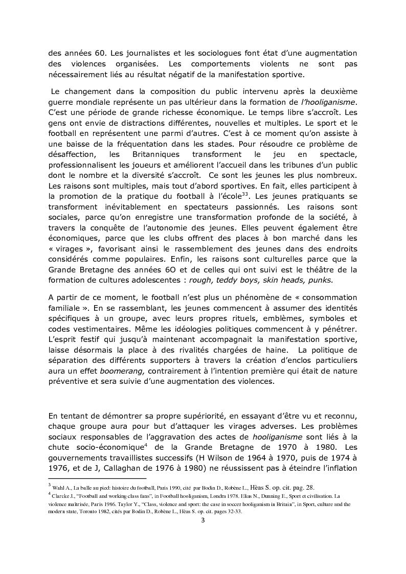 Anteprima della tesi: La violence dans les stades: aspects psycho-sociaux, Pagina 4
