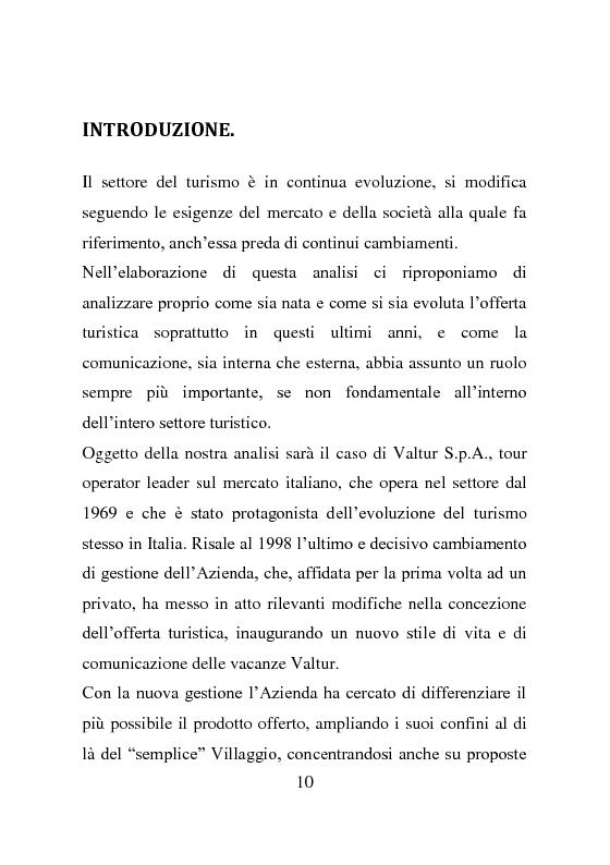 Anteprima della tesi: L'evoluzione della comunicazione esterna: il caso Valtur, Pagina 2
