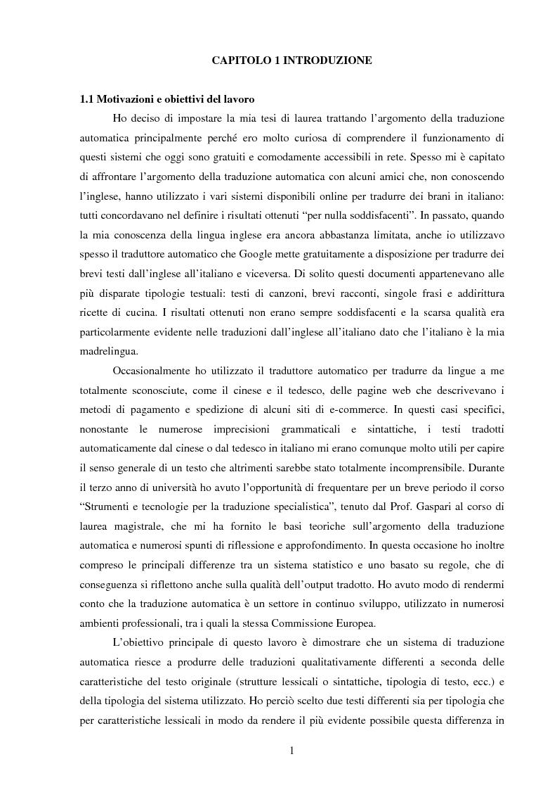 Valutazione della qualit della traduzione automatica dall for Traduzione da inglese a italiano