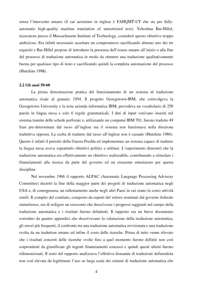 Anteprima della tesi: Valutazione della qualità della traduzione automatica dall'inglese all'italiano, Pagina 5