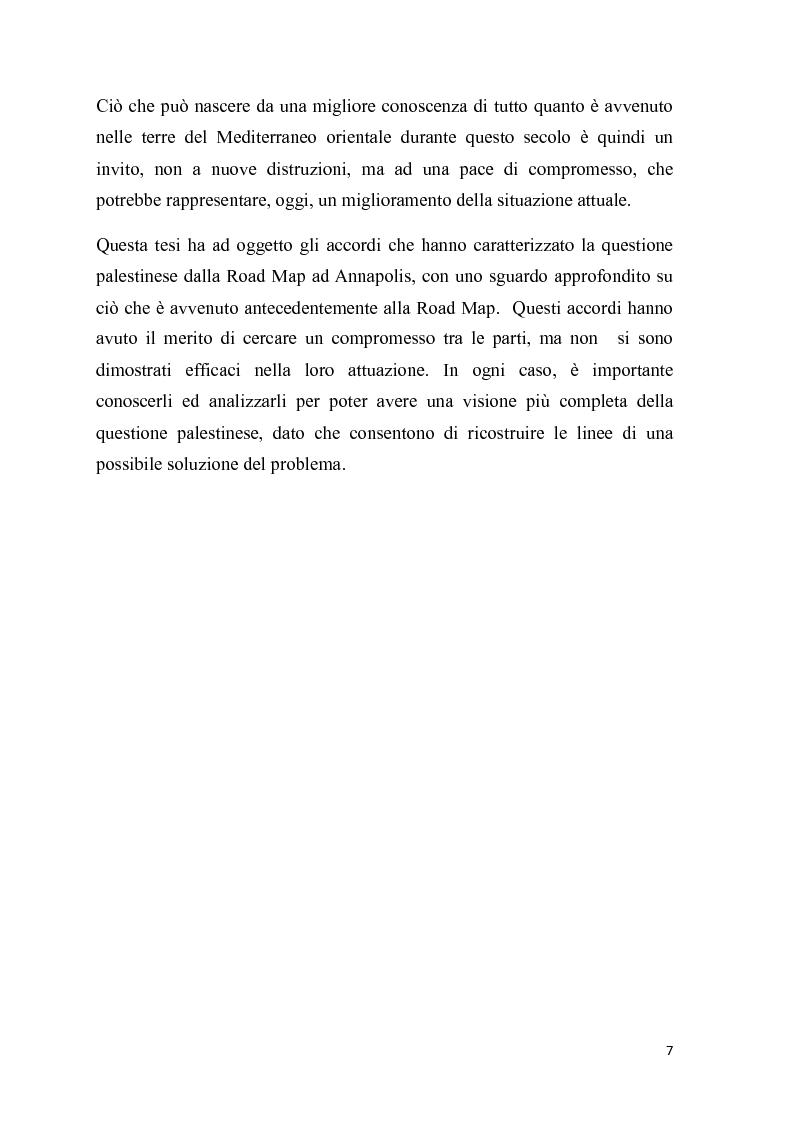 Anteprima della tesi: La questione palestinese: dalla Road Map ad Annapolis, Pagina 5
