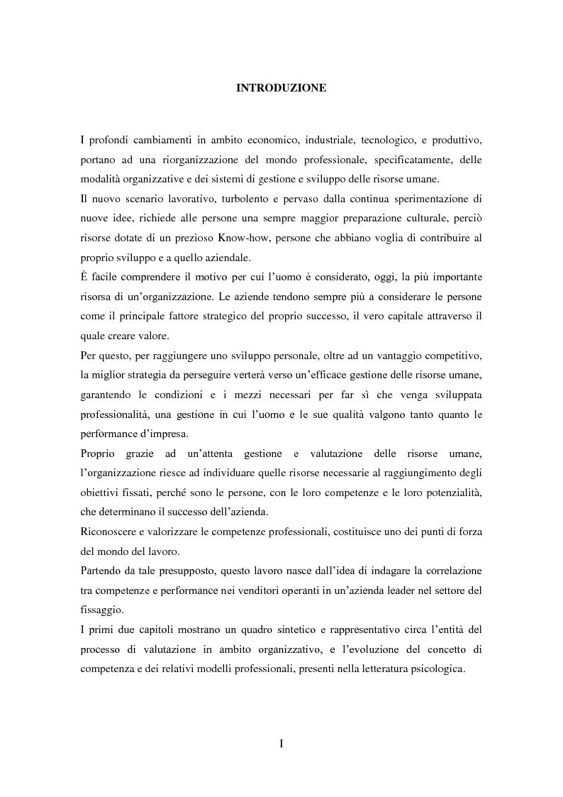 Anteprima della tesi: La validità predittiva delle competenze nei venditori: uno studio correlazionale., Pagina 2