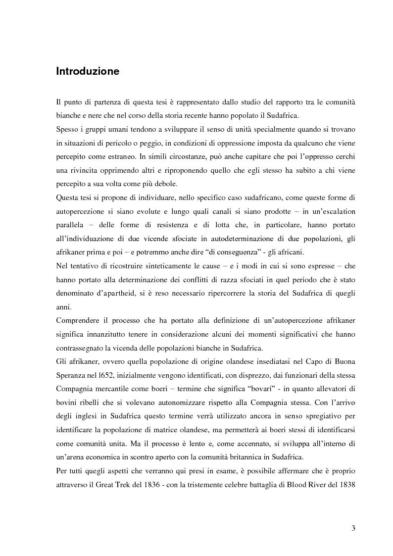 Anteprima della tesi: L'autopercezione delle comunità sudafricane nel periodo dell'apartheid, Pagina 2