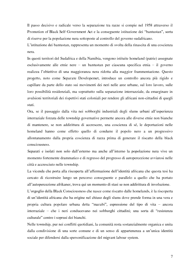 Anteprima della tesi: L'autopercezione delle comunità sudafricane nel periodo dell'apartheid, Pagina 6