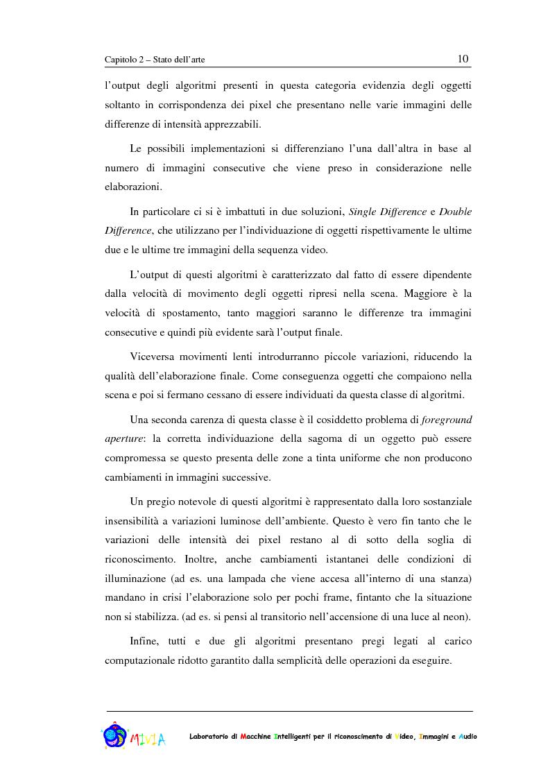 Anteprima della tesi: Caratterizzazione sperimentale di un sistema di videosorveglianza in ambienti reali, Pagina 10