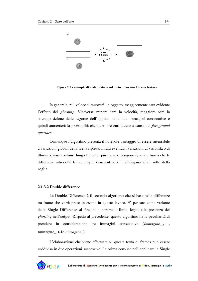 Anteprima della tesi: Caratterizzazione sperimentale di un sistema di videosorveglianza in ambienti reali, Pagina 14