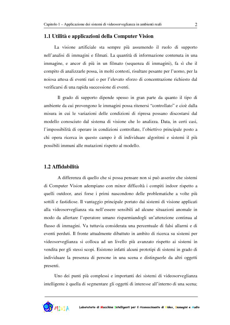 Anteprima della tesi: Caratterizzazione sperimentale di un sistema di videosorveglianza in ambienti reali, Pagina 2