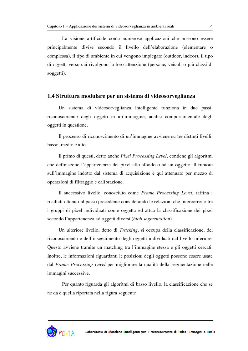 Anteprima della tesi: Caratterizzazione sperimentale di un sistema di videosorveglianza in ambienti reali, Pagina 4