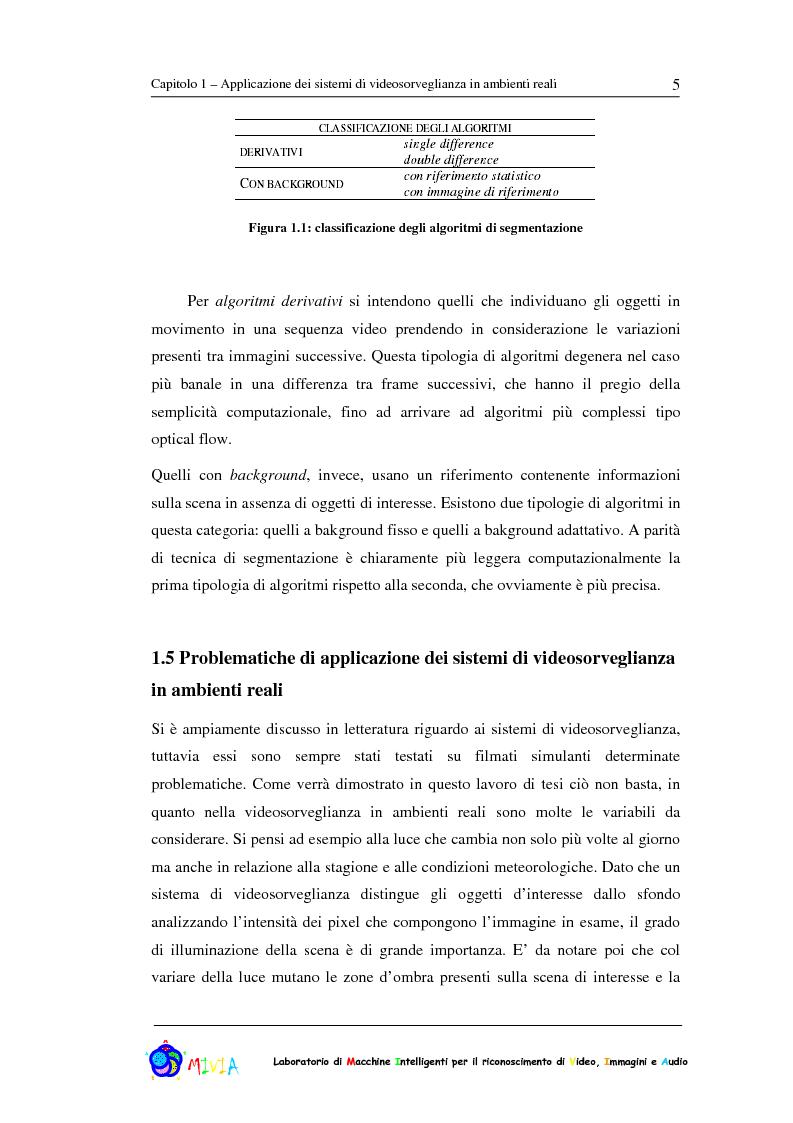 Anteprima della tesi: Caratterizzazione sperimentale di un sistema di videosorveglianza in ambienti reali, Pagina 5