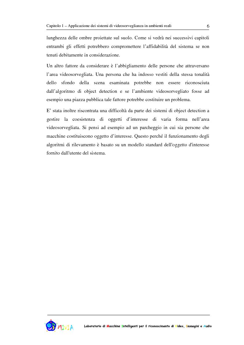 Anteprima della tesi: Caratterizzazione sperimentale di un sistema di videosorveglianza in ambienti reali, Pagina 6