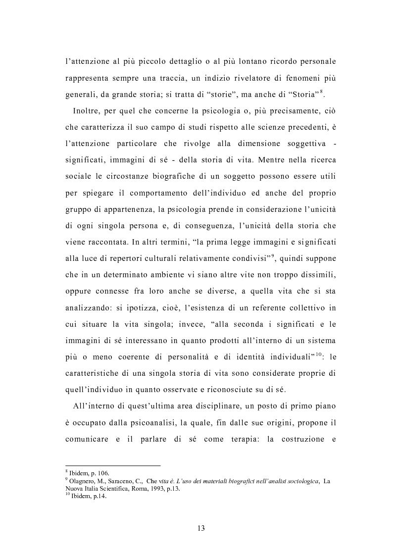 Anteprima della tesi: Condividere storie. Il racconto auto-bio-grafico in contesti educativi, Pagina 11