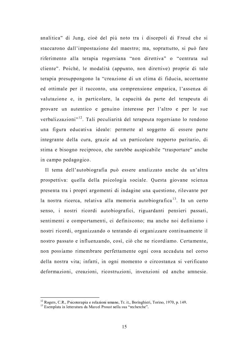 Anteprima della tesi: Condividere storie. Il racconto auto-bio-grafico in contesti educativi, Pagina 13