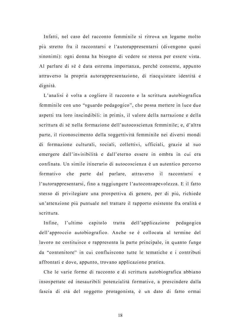 Anteprima della tesi: Condividere storie. Il racconto auto-bio-grafico in contesti educativi, Pagina 16