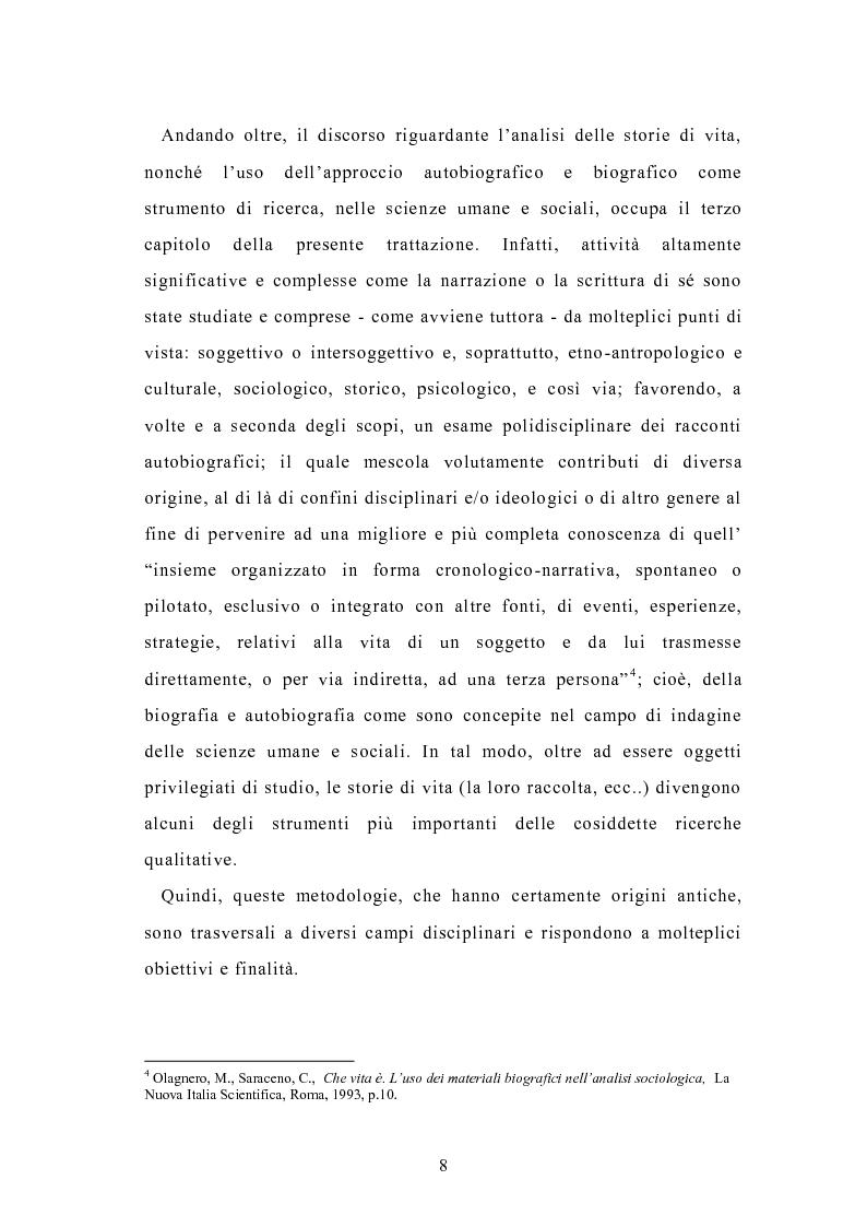 Anteprima della tesi: Condividere storie. Il racconto auto-bio-grafico in contesti educativi, Pagina 6
