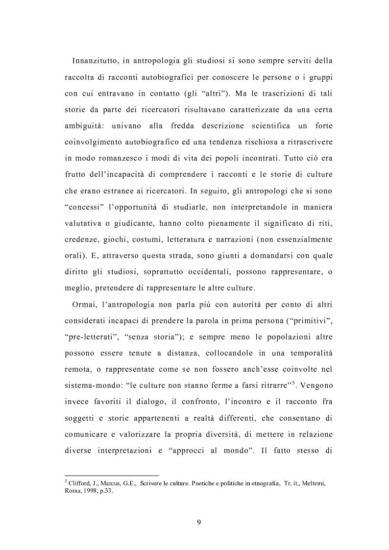 Anteprima della tesi: Condividere storie. Il racconto auto-bio-grafico in contesti educativi, Pagina 7