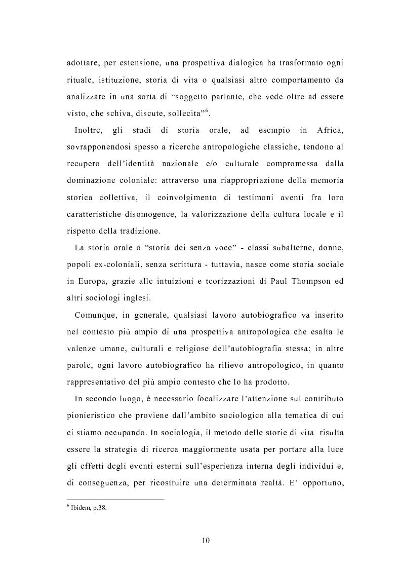 Anteprima della tesi: Condividere storie. Il racconto auto-bio-grafico in contesti educativi, Pagina 8