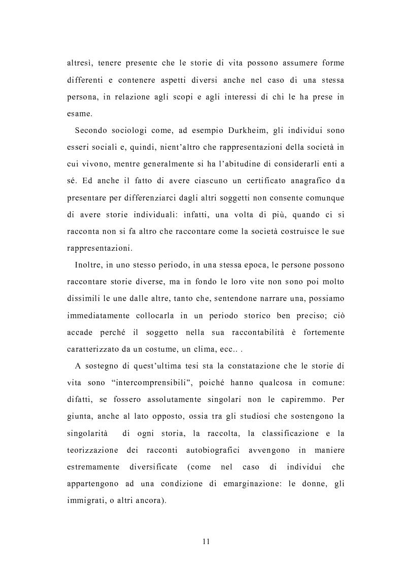 Anteprima della tesi: Condividere storie. Il racconto auto-bio-grafico in contesti educativi, Pagina 9