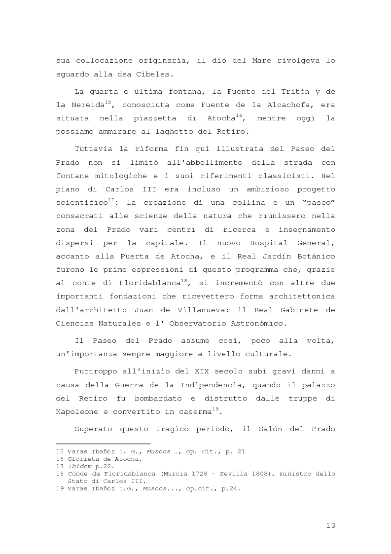 Anteprima della tesi: Intorno al Paseo del Prado: cronaca e storia di un'esperienza museologica, Pagina 10
