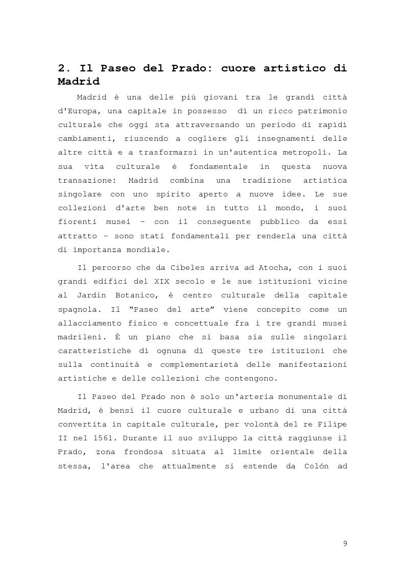 Anteprima della tesi: Intorno al Paseo del Prado: cronaca e storia di un'esperienza museologica, Pagina 6