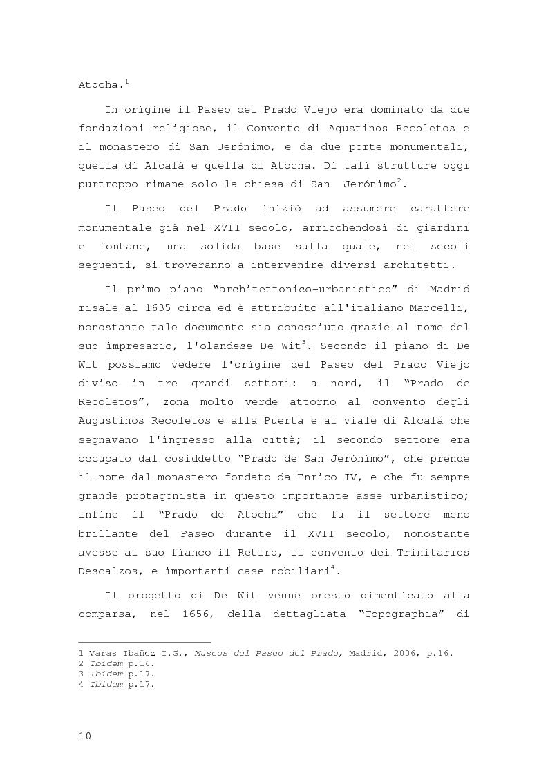 Anteprima della tesi: Intorno al Paseo del Prado: cronaca e storia di un'esperienza museologica, Pagina 7