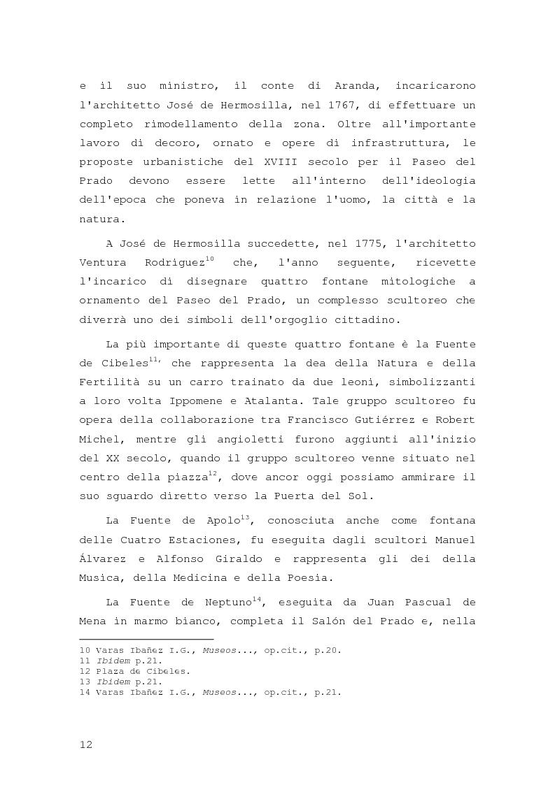 Anteprima della tesi: Intorno al Paseo del Prado: cronaca e storia di un'esperienza museologica, Pagina 9
